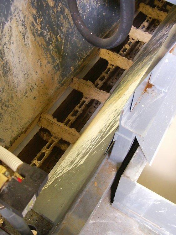 Скребковый конвейер<br />Транспортировка кека.